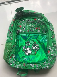 Smiggle Football theme Backpack