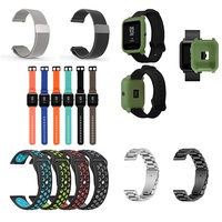 AMAZFIT 米動手錶 青春版 Gear Sport 替換手環 反扣式 雙色運動風錶帶矽膠雙色 米家石英錶 錶帶 表框