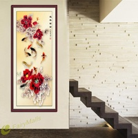 ㊕SG㊕5D DIY Diamond Painting Flower Fish Cross Stitch Rhinestone Home Decor