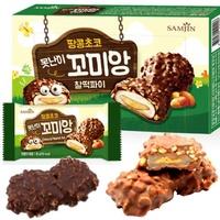 【VY2 SHOP】韓國 SAMJIN 巧克力麻糬夾心 花生麻糬巧克力夾心派 麻糬內餡(216g)(現貨)Ri81216