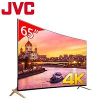 JVC 65型廣色域4K LED曲面智慧聯網顯示器 65X送安裝