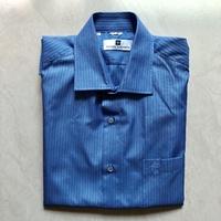 皮爾卡登藍線條襯衫(38號寬62長68.5)