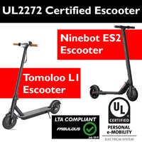 UL2272 Certified Escooter - DYU D1 - Tomoloo L1 - Ninebot ES2