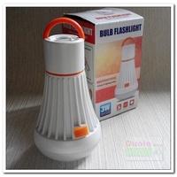 燈泡造型工作燈/手電筒/露營燈/掛鉤/強力磁鐵可使用18650鋰電或4號電池