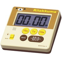 Seiko Clock Digital Timer Rilakkuma Minute Seconds Display Cream CQ150B SEIKO