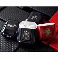 漫威 蜘蛛人Airpods2保護套 Airpods電鍍 蝙蝠俠鋼鐵俠 蘋果耳機保護套 充電倉保護套 矽膠超薄軟殼