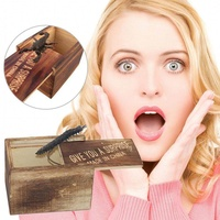 OutFlety Wooden Prank Animal Scare Box Case Trick Play Joke Lifelike Surprise Gag Toy 1pc