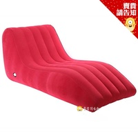 S型充氣躺椅 充氣躺椅 貴妃椅 S型躺椅 植絨沙發 懶人沙發 懶人椅子 S形 靠椅 沙發床 充氣床【賣貴請告知】