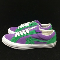 【日本海外代購】CONS Tyler the Creator GOLF le FLEUR 麂皮 紫綠 5代 小花 男女