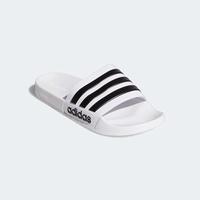 ADIDAS 19SS  白底黑條 男拖鞋 ADILETTE CLOUDFOAM系列  AQ1702 【樂買網】
