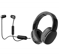 ▶$1 Shop Coupon◀  Skullcandy Crusher Wireless Bluetooth Over-Ear Headphone Bundle with Skullcandy Ji