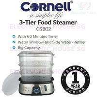 ★ Cornell CS202 3-Tier Food Steamer ★ (1 Year Singapore Warranty)