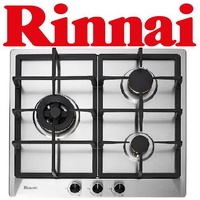 RINNAI RB-63SSV-DL 3-BURNER STAINLESS STEEL HOB
