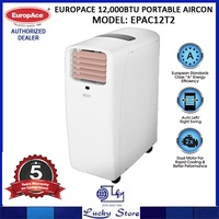 EUROPACE 12000BTU PORTABLE AIRCON * EPAC12T2 * 5 YEARS WARRANTY ON COMPRESSOR * FREE DELIVERY