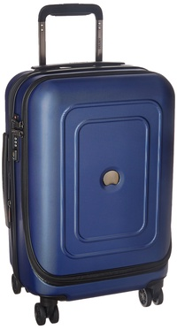 """DELSEY Paris Luggage Cruise Lite Hardside 19"""" Intl. Carry on Exp. Spinner Trolley, Blue"""