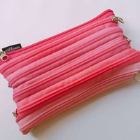 🚚 Smiggle Pink Zipper Pencil Case