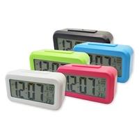 【A-HUNG】創意LCD電子鬧鐘 大螢幕LED時鐘 溫度顯示數字鐘 光控聰明鐘 電子鐘 電子時鐘 數字時鐘