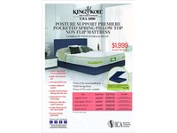 King Koil Posture Support Premiere Pocketed Spring Pillow Top (Non-Flip Mattress)