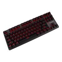 Tecware Phantom TKL สีแดงนำสีน้ำตาลสวิทช์คีย์บอร์ด - นานาชาติ