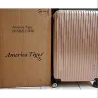全新 America Tiger 29吋晶亮行李箱-香檳金