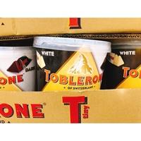 Costco 瑞士三角巧克力桶 蜂蜜杏仁白巧克力 /黑巧克力