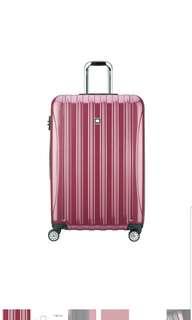 "🚚 Delsey Luggage Helium Aero Expandable Spinner Trolley 29"" 29 inch large suitcase luggage Peony Pink"