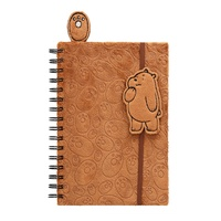 We Bare Bears Grizz Plush Notebook & Bookmark Set