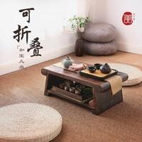可折疊炕桌茶幾榻榻米桌子實木飄窗小茶幾窗台矮書桌日式炕幾地桌NMS