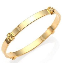 Tory Burch TORY BURCH LOGO BANGLE (TORY GOLD)