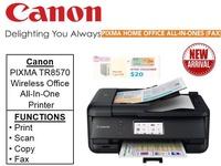 Canon PIXMA TR8570 Printer ** Free Prolink 5-Port USB and $20 NTUC Voucher Till 24th Feb 2019 ** TR 8570