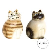 LISA LARSON麗莎·rason Mia Medium miamidiamurisarasonrisa·rason貓陳設品陶器貓可愛的禮物禮物生日 uminecco