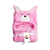 [ARBUTUS TRADERS] Hooded Blanket for Kids | Baby Girl or Boy | Fluffy Fleecy Bath Towel with Hood |