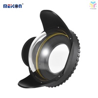 T&T MEIKON Underwater Camera 200mm Fisheye Wide Angle Lens Dome Port Case Shade Cover 60m/ 197ft Wat