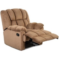 Stretch Recliner Chair With Padded Seat And Backrest for Living Room Fabric Sofa