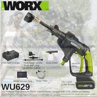 WORX 20V 4.0AH WU629.9 CORDLESS HYDROSHOT PORTABLE HIGH PRESSURE WASHER / HIGH PRESSURE CLEANER