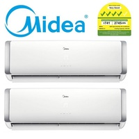 MIDEA SYSTEM 2 AIRCON MS40D32-2XSMKM18 (2x 18000btu) (Free Replacement & Disposal of Old Aircon)