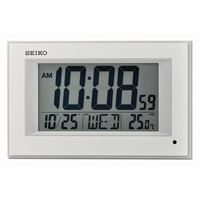 Seiko Digital Clock QHL077WN