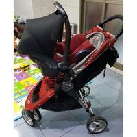 二手✌Baby Jogger City Mini 三輪嬰兒推車+Maxi-Cosi Cabrio提籃汽車座椅+結合器
