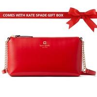 Kate Spade Crossbody Bag Weller Street Declan Handbag Lacquer Red # WKRU5065 + Gift Receipt