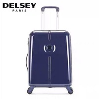 "Delsey hard case luggage (blue, 30"")"