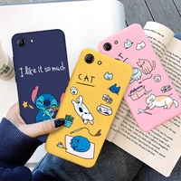 Cute Stitch Painted Soft Case For OPPO R9S R11 R11S F1 F3 Plus R15 R17 Pro Cartoon Silicone Cover