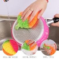 ❤️領先運動館❤️ 韓國熱銷 加厚吸水抹布 草莓洗碗巾 圓圈圈清潔布廚房洗碗毛巾 擦桌布擦碗布洗碗布