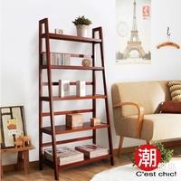 私的部屋實木五層梯形架