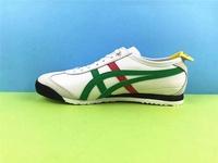 "Asics_Official ""ONITSUKA _ TIGER"" ผู้ชาย/รองเท้าวิ่งผู้หญิงสีขาวรองเท้าผ้าใบสีเขียว MEXICO66 SD ""Li Yuchun"""