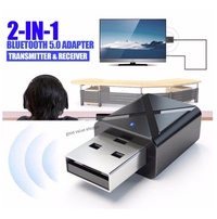 USB 5.0 Bluetooth TV Sound System Adapter Headphone Receiver Transmitter