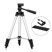 Portable Tripod with Bag, Adjustable Legs for Projector, Camera, Telescope, Spotting Scope, Lightweight Aluminum Tripod Stand