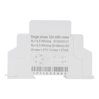 數字LCD 220V單相DIN導軌電錶5-32A電子KWhMeter