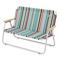 【鄉野情戶外用品店】 LOGOS |日本| 條紋雙人戀愛椅 情人椅 摺疊椅/LG73174030
