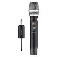 UHF 25 Channel Wireless Handheld Microphone Mic System Home KTV Karaoke Speech Mic Receiver