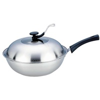 wok 32cm stainless steel cooking wok with coating cookware no cover wok pan